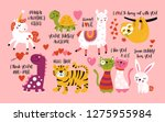 valentine's day cute animals... | Shutterstock .eps vector #1275955984