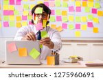 young employee in conflicting...   Shutterstock . vector #1275960691