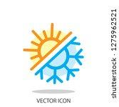 sun and snowflake logo  icon... | Shutterstock .eps vector #1275962521