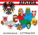 coat of arms of austria with... | Shutterstock .eps vector #1275966334