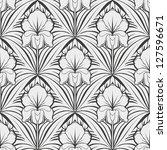 seamless floral pattern | Shutterstock .eps vector #127596671