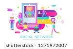 social network concept. young...   Shutterstock .eps vector #1275972007