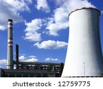 coal power plant with cooling... | Shutterstock . vector #12759775