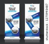 roll up banner design template  ... | Shutterstock .eps vector #1275993487