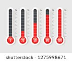 percentage thermometer.... | Shutterstock .eps vector #1275998671