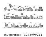 city line landscape. office... | Shutterstock .eps vector #1275999211