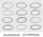 doodle circles. hand drawn... | Shutterstock .eps vector #1275999241