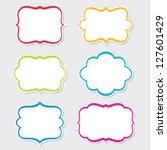 cute vector frames set | Shutterstock .eps vector #127601429