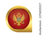flag of montenegro  location... | Shutterstock .eps vector #1276023217