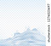 water splash isolated on...   Shutterstock .eps vector #1276023697