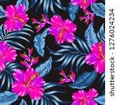 tropical flowers editable...