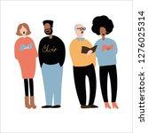 choir singing. group of people... | Shutterstock .eps vector #1276025314
