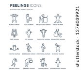16 linear feelings icons such... | Shutterstock .eps vector #1276039921