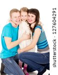 happy young family with a child | Shutterstock . vector #127604291