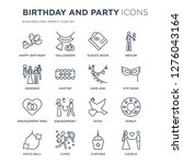 16 linear birthday and party... | Shutterstock .eps vector #1276043164