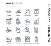 16 linear hotel icons such as...   Shutterstock .eps vector #1276043344