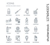16 linear  icons such as nail... | Shutterstock .eps vector #1276043371