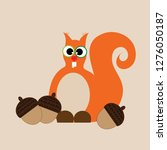 vector illustration of squirrel ... | Shutterstock .eps vector #1276050187
