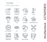16 linear  icons such as... | Shutterstock .eps vector #1276055851