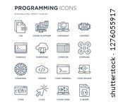 16 linear programming icons...   Shutterstock .eps vector #1276055917