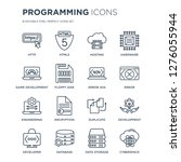 16 linear programming icons... | Shutterstock .eps vector #1276055944