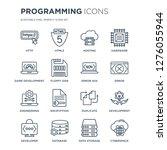 16 linear programming icons... | Shutterstock .eps vector #1276055944