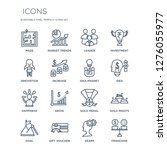 16 linear  icons such as maze ... | Shutterstock .eps vector #1276055977