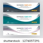 abstract web banner design... | Shutterstock .eps vector #1276057291