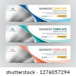 abstract web banner design...   Shutterstock .eps vector #1276057294