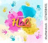 happy holi spring festival of...   Shutterstock .eps vector #1276058431