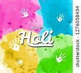 happy holi spring festival of...   Shutterstock .eps vector #1276058434
