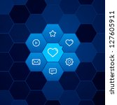 hexagonal bright user interface....