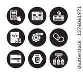 9 vector icon set   mobile app  ... | Shutterstock .eps vector #1276061971