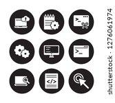 9 vector icon set   computing ... | Shutterstock .eps vector #1276061974