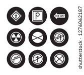 9 vector icon set   pedestrian  ... | Shutterstock .eps vector #1276062187