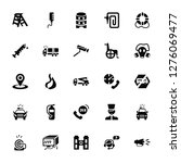 vector illustration of 25 icons....   Shutterstock .eps vector #1276069477