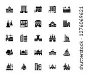 vector illustration of 25 icons.... | Shutterstock .eps vector #1276069621