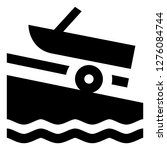 motor boat marina icon | Shutterstock .eps vector #1276084744