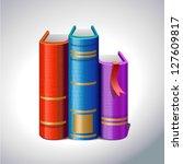 books | Shutterstock .eps vector #127609817