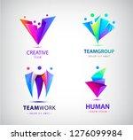 vector set of 3d multicolor men ... | Shutterstock .eps vector #1276099984