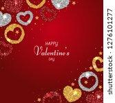 happy valentine's day... | Shutterstock .eps vector #1276101277