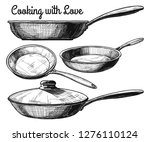 set of frying pan isolated on... | Shutterstock .eps vector #1276110124