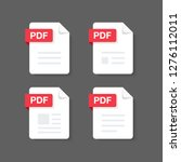 flat design with pdf files... | Shutterstock .eps vector #1276112011