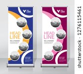 roll up banner design template  ... | Shutterstock .eps vector #1276115461
