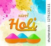 happy holi spring festival of...   Shutterstock .eps vector #1276120111