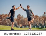 the young and old athletes...   Shutterstock . vector #1276121287