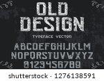 font script typeface vector...   Shutterstock .eps vector #1276138591
