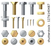 bolts and screws. washer nut... | Shutterstock .eps vector #1276140487