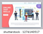 online testing landing page.... | Shutterstock .eps vector #1276140517