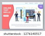 online testing landing page.... | Shutterstock .eps vector #1276140517